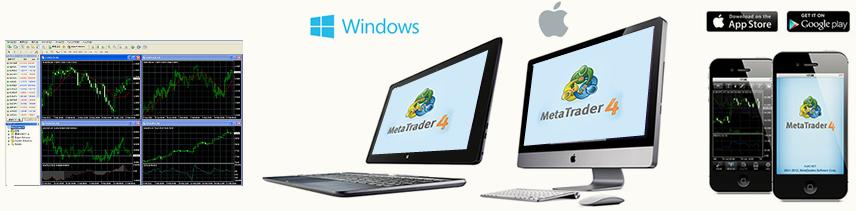 「MetaTrader4」はパソコンでもスマホでも動作します。